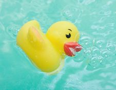 Free Rubber Duck In Bath Bathroom Royalty Free Stock Images - 17947349