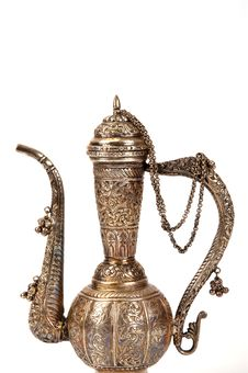 Copper Jug With A Traditional Arabic Ornaments Royalty Free Stock Photo