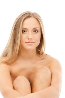 Naked Sexy Attractive Blond Woman Stock Photo