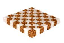 Shugar Chessboard Royalty Free Stock Photography