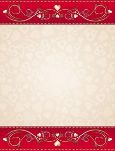 Free Beige Valentine Background, Royalty Free Stock Photography - 17947607