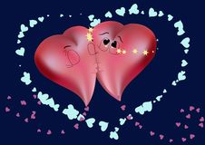 Free Kissing Hearts Royalty Free Stock Images - 17947699