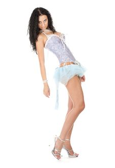 Free Lovely Brunette Dancer Posing Stock Photo - 17947720