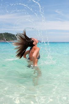 Free Lovely Girl In Sea Water Stock Images - 17947784