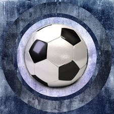 Gray Wall Grunge With Soccer Ball Royalty Free Stock Images