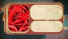 Free Retro Background With Red Rose Royalty Free Stock Photo - 17948565