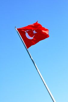 Free Turkish Flag Royalty Free Stock Image - 17948746