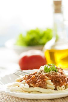 Free Pasta With Bolognese Sauce Stock Photography - 17948752