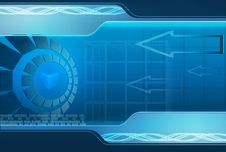 Free Blue Technology Background Stock Images - 17948754