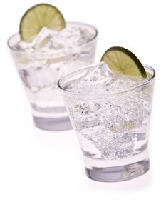 Free Water With Ice And Lime Stock Photo - 17948880
