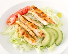 Free Salad With Grilled Chicken Stock Photo - 17948900