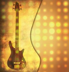 Free Grungy Guitar Background Stock Photos - 17948933