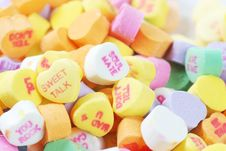 Free Valentine S Day Candies And Letters Royalty Free Stock Images - 17949109