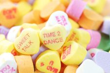 Valentine S Day Candies And Letters Stock Images