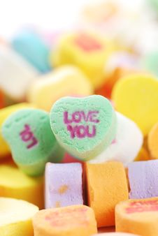 Free Valentine S Day Candies And Letters Royalty Free Stock Photo - 17949205