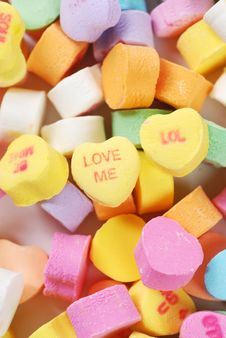Free Valentine S Day Candies And Letters Stock Photos - 17949243