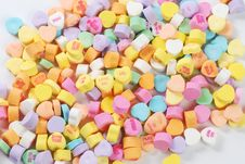 Valentine S Day Candies And Letters Stock Photo