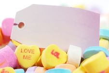 Free Valentine S Day Candies And Letters Stock Photography - 17949282