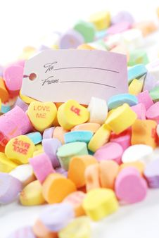Free Valentine S Day Candies And Letters Royalty Free Stock Photography - 17949287