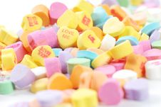 Free Valentine S Day Candies And Letters Stock Photo - 17949290