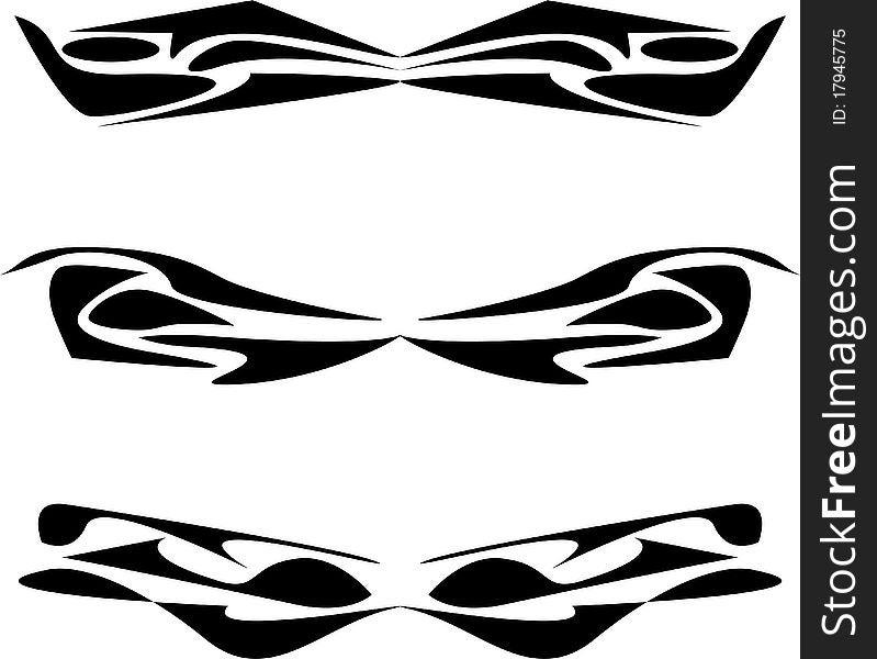 Artworks tattoo design set isolated on white