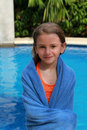 Free Swimming Girl In Towel Royalty Free Stock Photos - 17951648