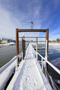 Free Gates And Winter Marina Stock Images - 17952224