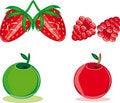 Free Apple, Strawberry And Raspberry Stock Photo - 17956590