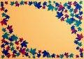 Free Illustration An Autumn Orange Background Royalty Free Stock Photo - 17959955