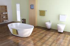 Free Modern Toilet Royalty Free Stock Image - 17951136