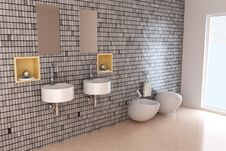 Free Modern Toilet Royalty Free Stock Images - 17951139