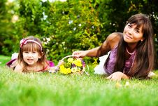 Mother And Little Girl Royalty Free Stock Photography