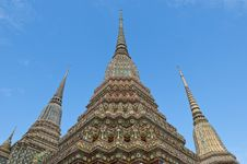 Free Ancient Pagoda At Wat Pho,Bangkok,Thailand Royalty Free Stock Image - 17951266