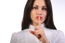 Free Businesswoman Gesturing To Silence Stock Images - 17951484
