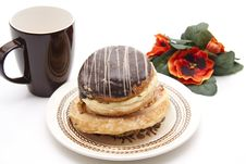 Free Donut With Chocolate Stock Images - 17951634