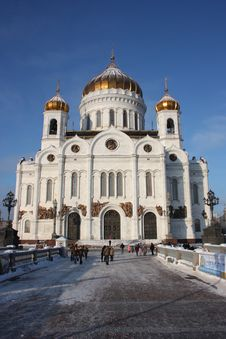 Free Moscow. Christ The Saviour Cathedral. Royalty Free Stock Images - 17951939
