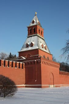 Free Moscow. Kremlin Wall. Taynitskaya Tower. Royalty Free Stock Images - 17951959