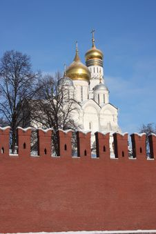Free Cupolas Of The Moscow Kremlin. Stock Photo - 17951970