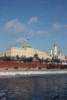 Panorama Of The Moscow Kremlin. Royalty Free Stock Images