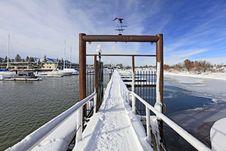 Gates In To Winter Marina Royalty Free Stock Photos