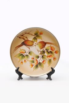 Chinese Porcelain Plate Royalty Free Stock Images