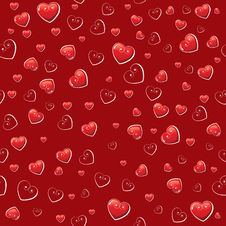 Free Seamless Background With Hearts Stock Photos - 17953143