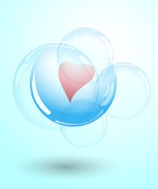 Heart From Bubbles Stock Photos