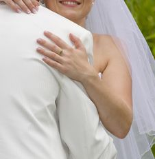 Free Wedding Moments - Bride Inarms Fiance Stock Photos - 17953983