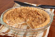 Apple Crumb Pie Royalty Free Stock Images