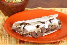 Free Beef Pita With Sauce Royalty Free Stock Images - 17954359