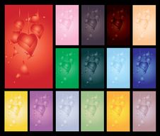 Set Of Valentine S Day Cards Stock Photo