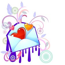 Free Funky Styled Love Message Royalty Free Stock Photos - 17954748