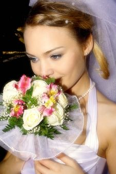 Free The Is Gentle-romantic Bride Stock Images - 17954784