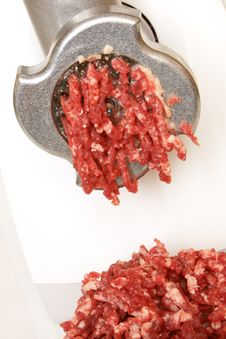 Free Meat Grinder In Action Royalty Free Stock Photos - 17955478